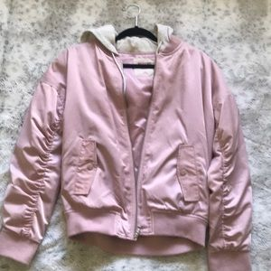 Bomber jacket with a hoodie
